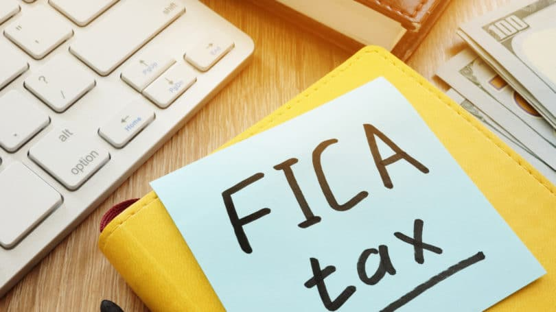 Fica Tax Post It Keyboard Cash