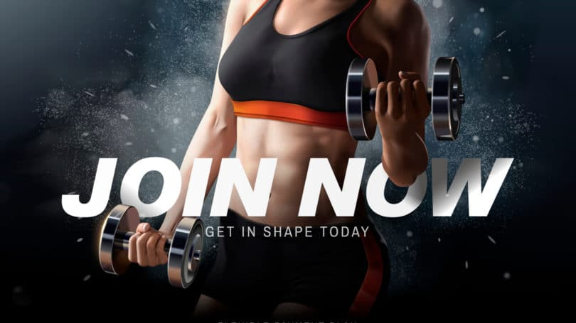 Gym Membership Promotion Marketing Ad