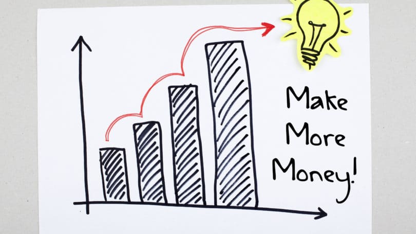 Make More Money Graph Lightbulb Increase Climb Growth