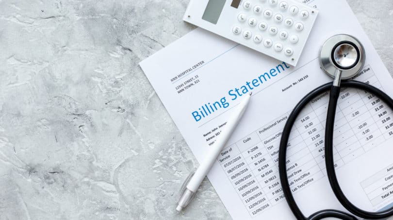 Medical Billing Statement Stethoscope Calculator