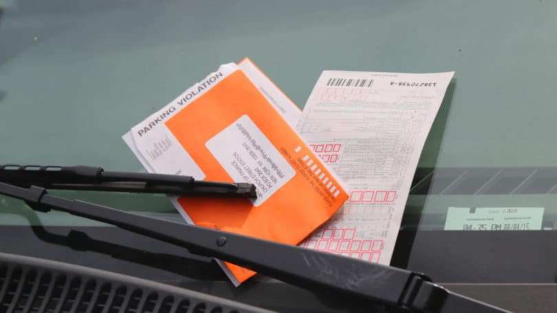 Parking Violation Ticket Orange