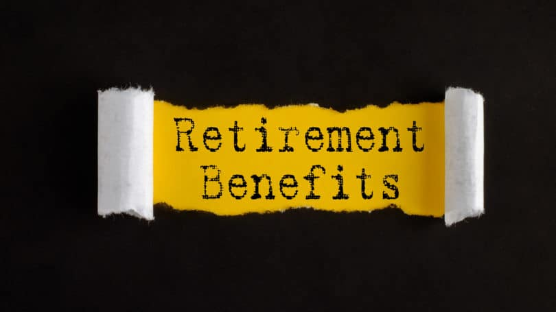 Retirement Benefits Ripped Paper
