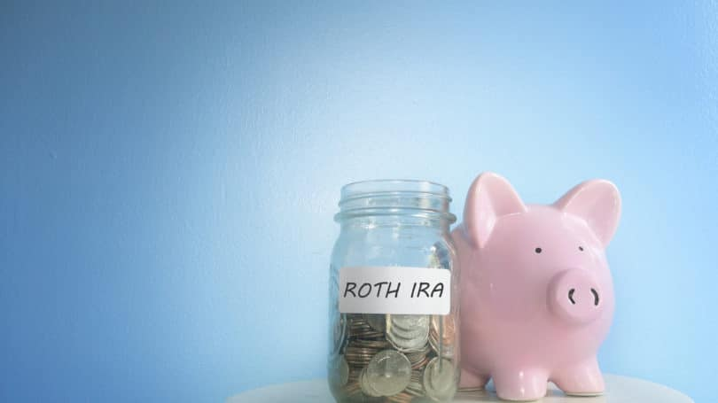 Roth Ira Cash In Jar Piggy Bank