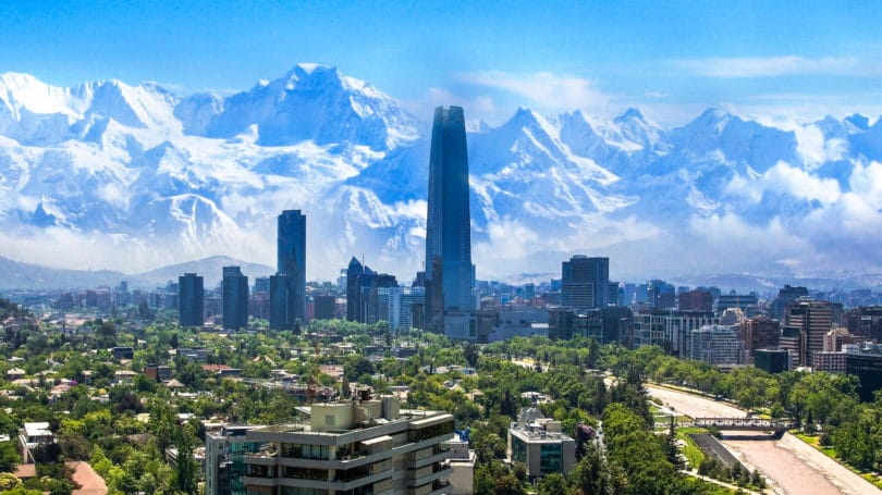 Santiago Chile Cityscape Mountains