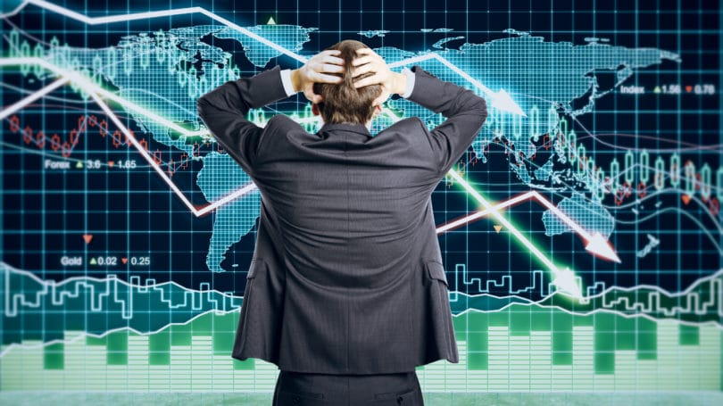 Stock Market Crash Businessman Stressed
