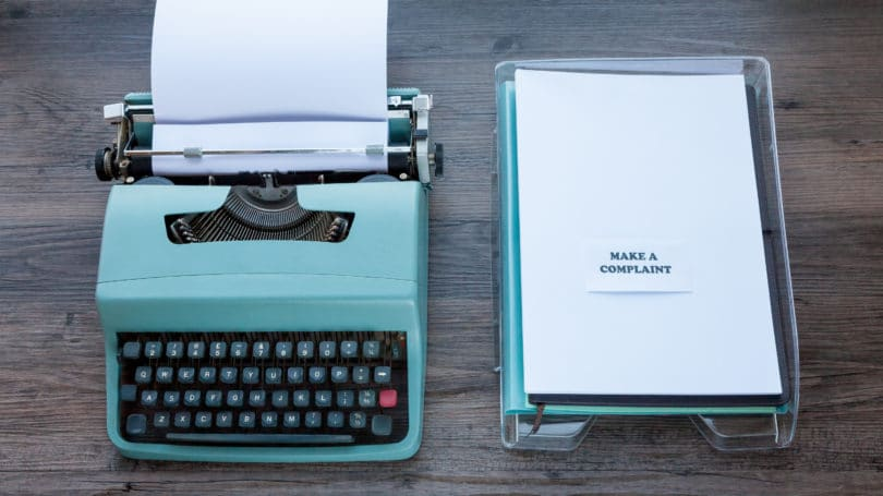 Typewriter Complaint Paper