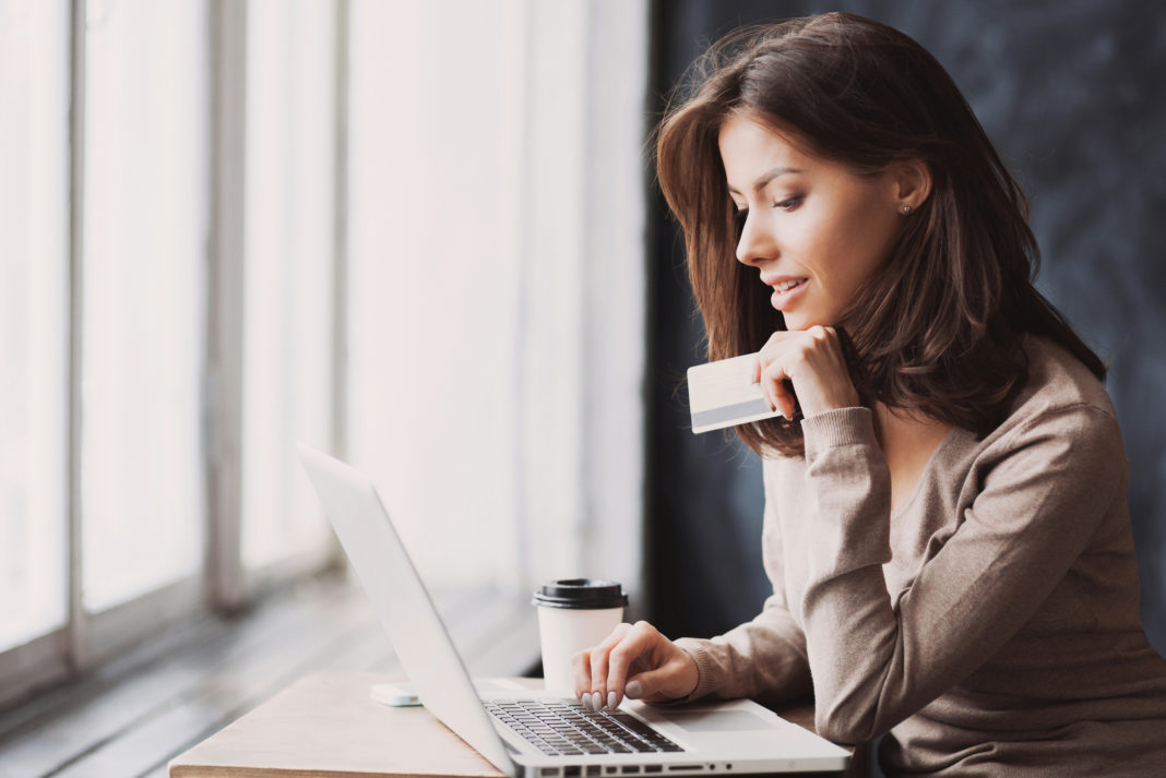 Woman Online Shopping Credit Card