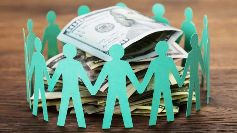 Crowdfunding Concept Group Investors Cash Loan