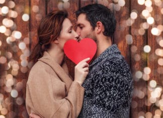 Date Night Couple Spouse Lights Heart