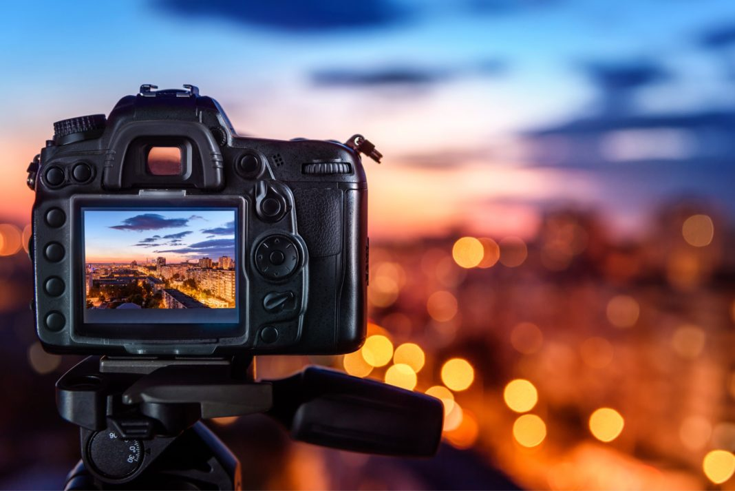Digital Camera Sunset Screen Cityscape Photo Horizon