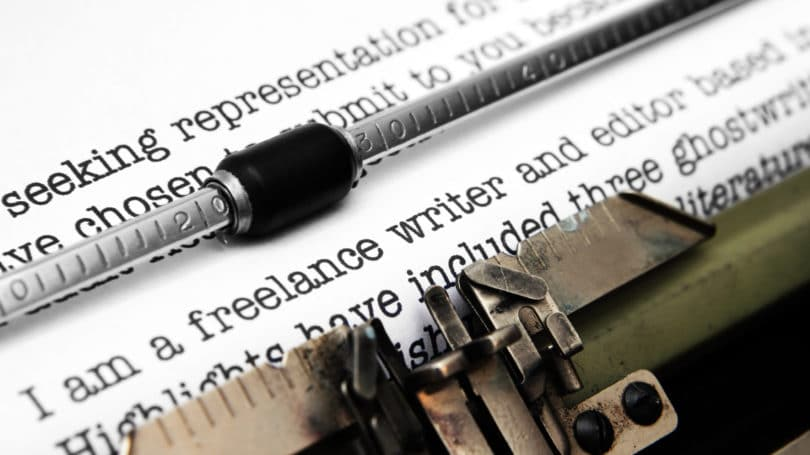 Freelancer Writer Editor Typewriter Paper Letter Writing