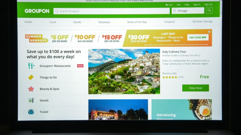 Groupon Tiered Offer Promotion Restaurants Activities Travel