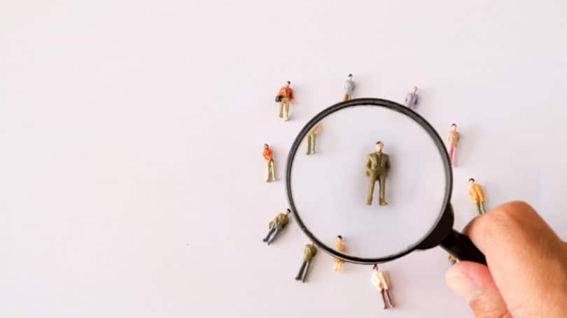 Human Resource Recruitment Recruiter Hiring Magnifying Glass