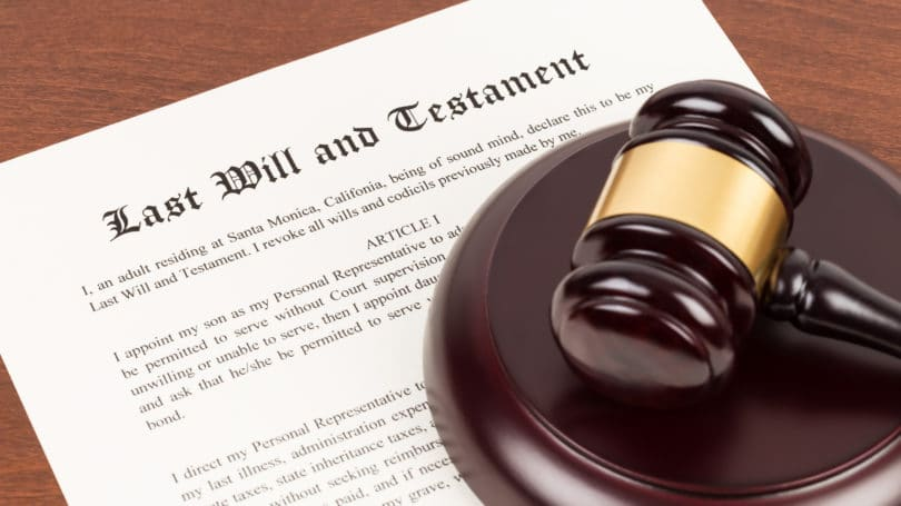 Last Will And Testament Gavel Document