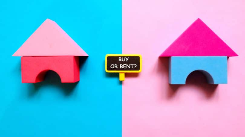 Rent Or Buy House Home Pink Blue
