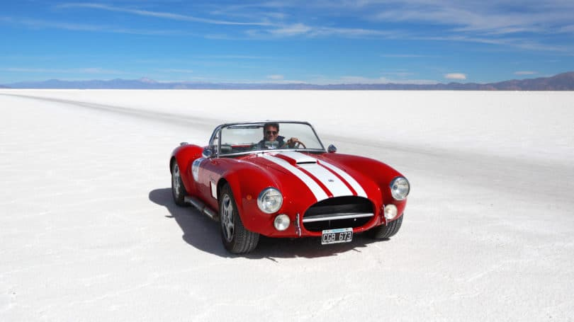 Retro Car Collectible Exotic Classic Driving On Beach