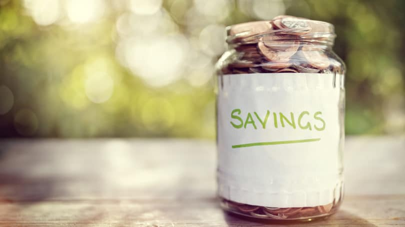 Savings Coins In Jar