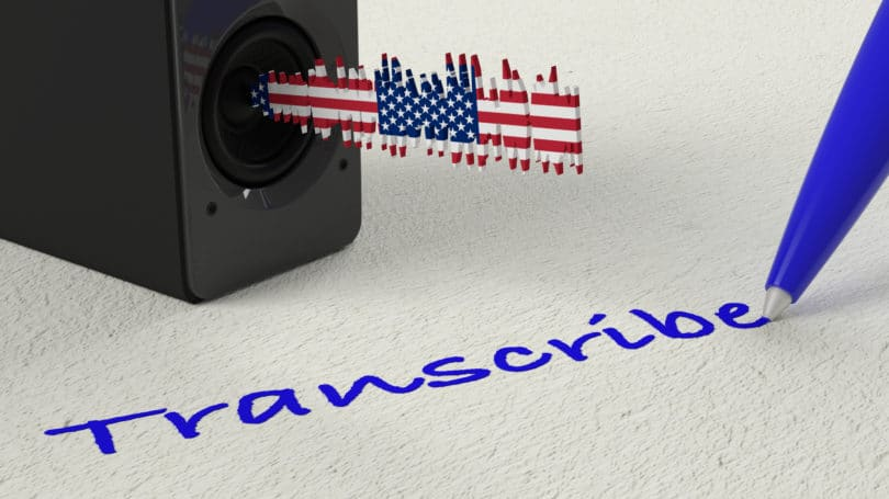 Transcribe Write Speaker Listen English