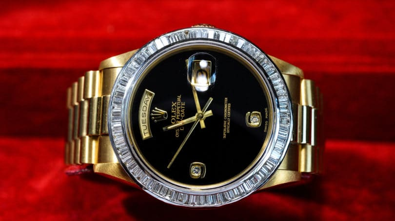 Vintage Rolex Gold Watch Diamonds Rare