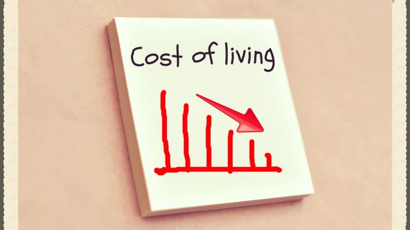 Cost Of Living Graph Arrow Downward