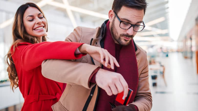 Couple Spending Shopping Credit Card Budget