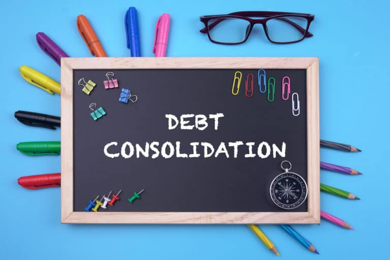 Debt Consolidation Chalkboard Markers Pencils