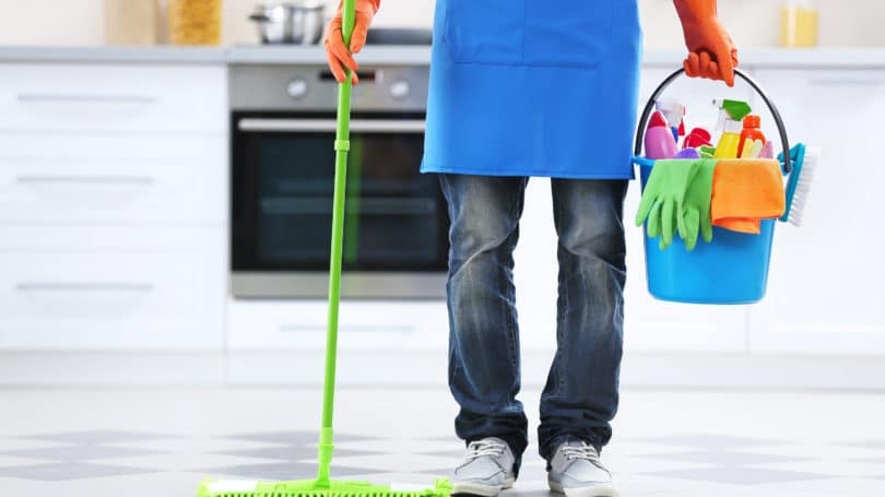 Home Cleaning Service Mop Supplies Gloves Pail Kitchen