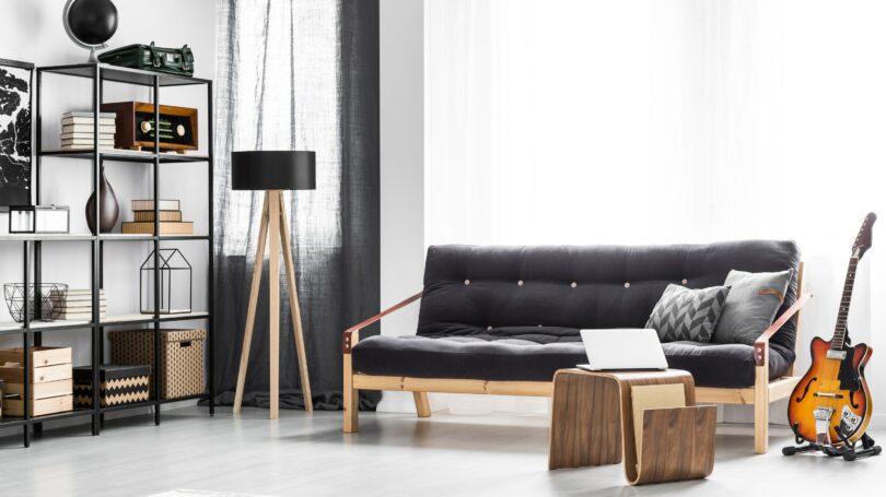 Man Cave Guitar Couch Music Furniture Interior Design