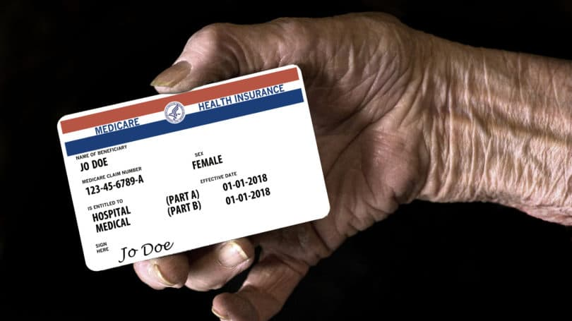 Medicare Card Senior Citizen Hand