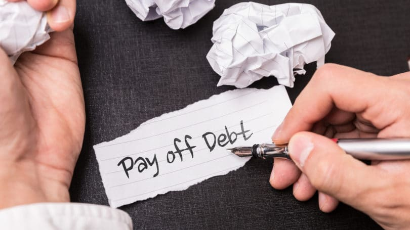 Pay Off Debt Paper Pen