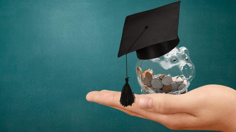 Piggy Bank Cap Tassel Chalkboard Hand