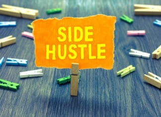 Side Hustle Clothing Pins Stable Sign
