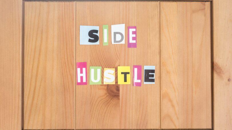 Side Hustle Wooden Board Letters Cut Out