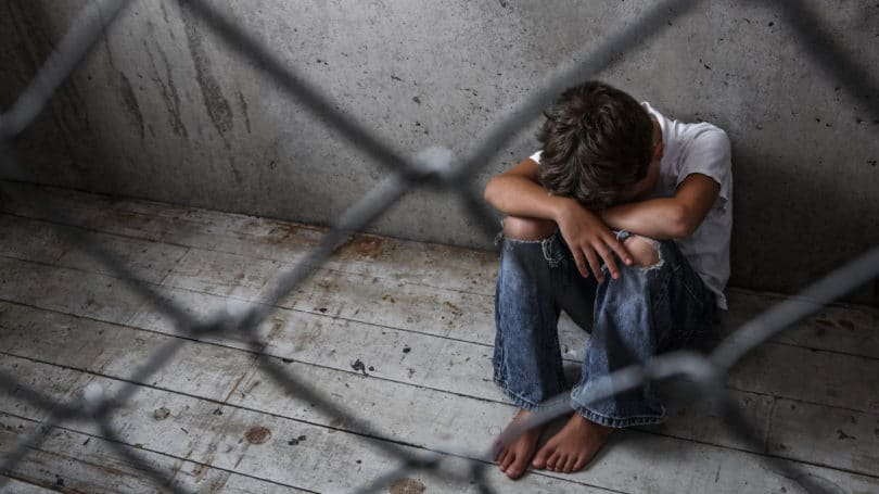 Young Immigrant Boy Fenced Detained Depressed Alone Scared