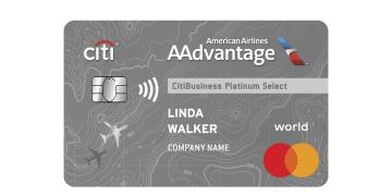 Citibusiness Aa Platinum Select Card Art