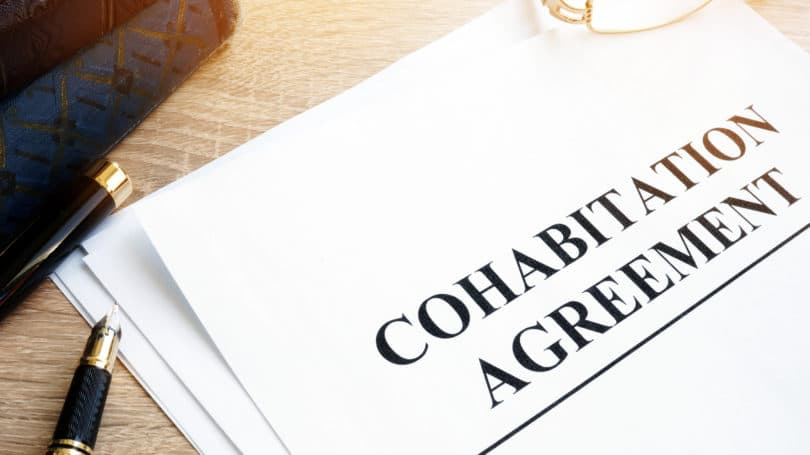 Cohabilitation Agreement Writing Signed