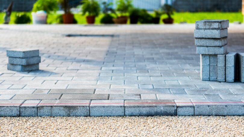 Driveway Installation Brick Stone Pavement Diy