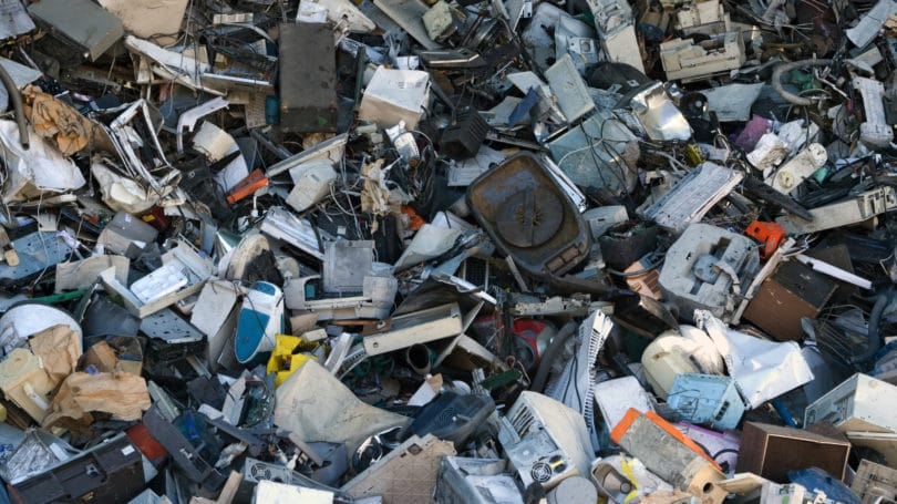 Electronic Waste Dumped