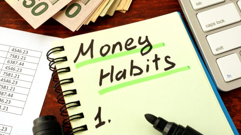 Money Habits Notebook List Cash Financial Planning