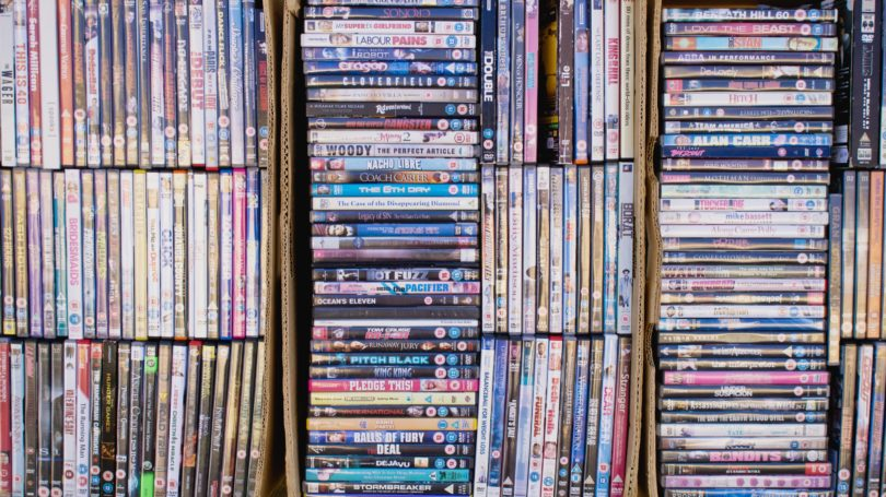 Dvd Library Collection Boxes Organized