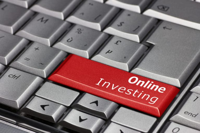 Online Investing Highlighted Keyboard