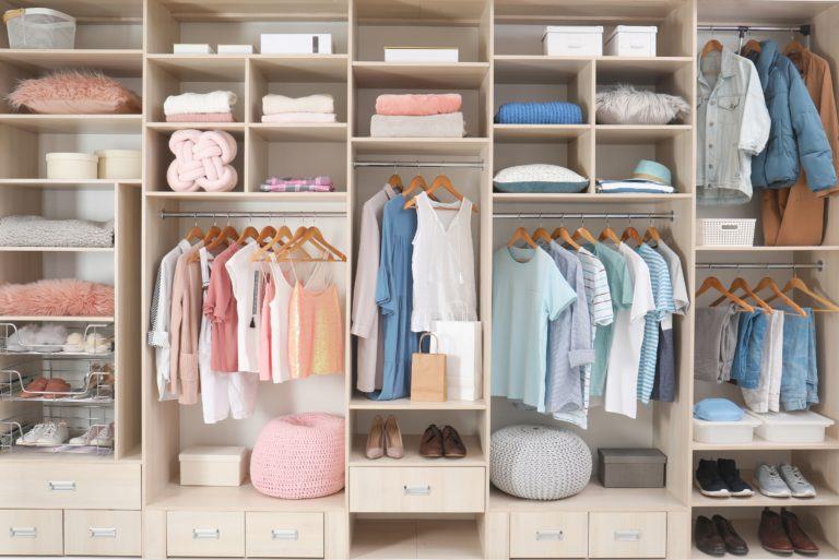 Organized Closet His Hers California Closet