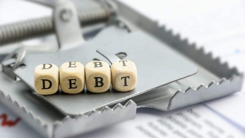 Debt Mouse Trap Dice Block Letters