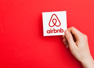 Airbnb Logo Brand Company Renting Vacation Red