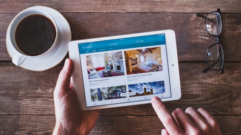 Airbnb Rental Home Photos Booking Online Tablet