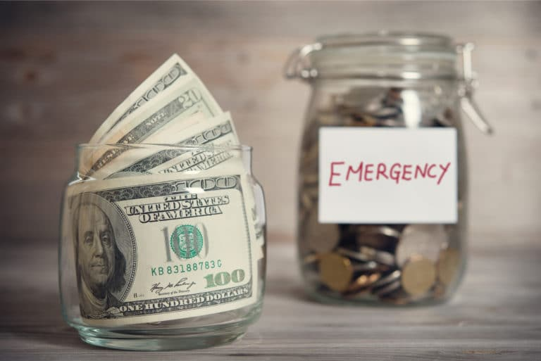 Emergency Fund Cash Jar