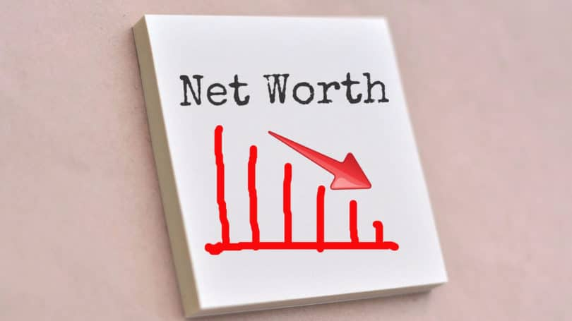 Net Worth Descending Arrow Graph