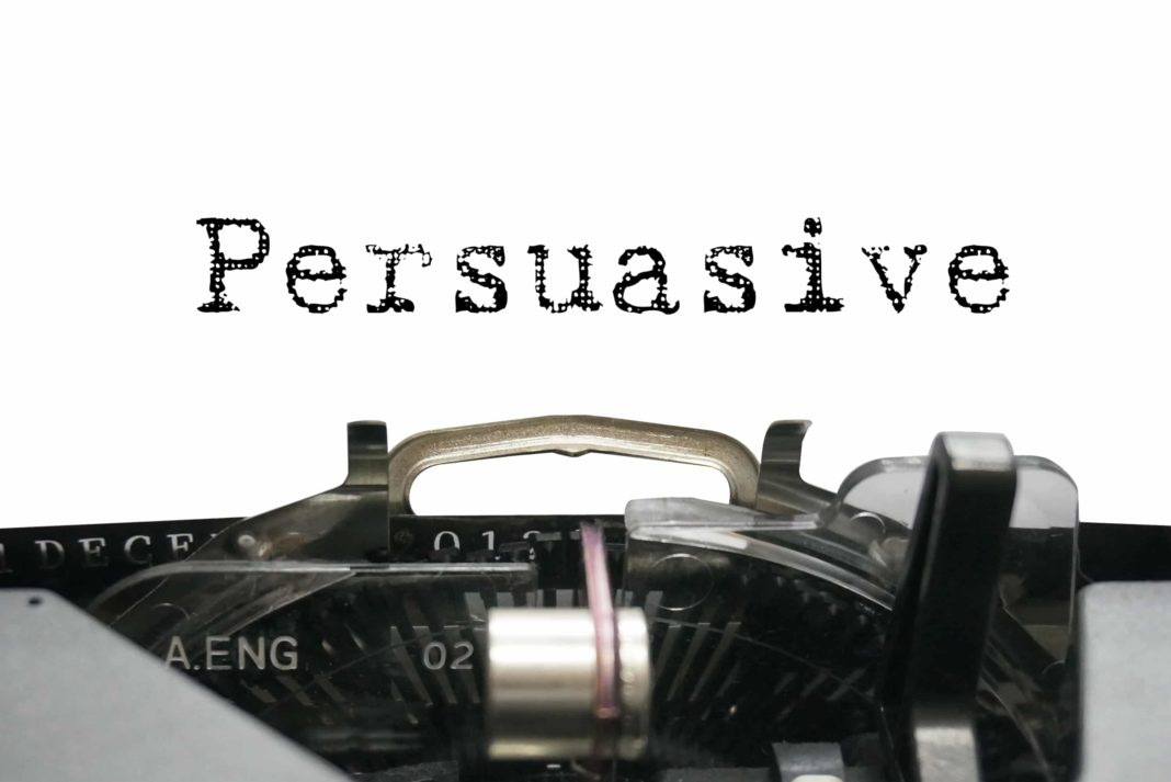 Persuasive Type Writer Letters Black And White