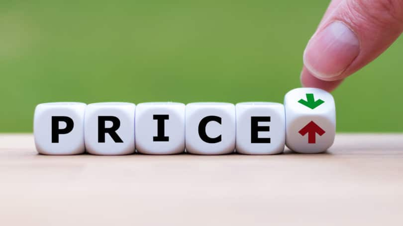 Price Up Down Incease Decrease Letters Arrows