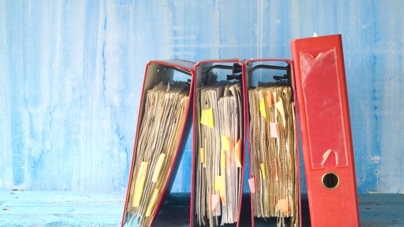Red Document Binders